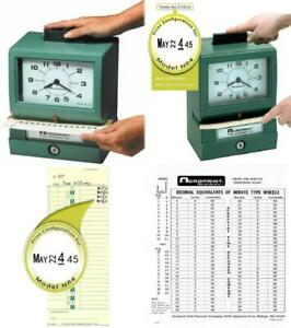 Acroprint 01 1070 411 Model 125nr4 Heavy duty Manual Print Time Recorder