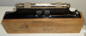 Ls Starrett 98 12 Machinist Level Wood Case Ground Graduated Precision Vial Usa