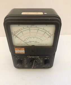 Vtg Simpson Model 260 2 Seres 2 Multimeter Analog Vom C 1940 1950 Parts repair