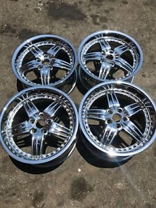 18 Inch Foose Df5 Wheels Rims Staggered Chrome American Mustang Pony Muscle 4