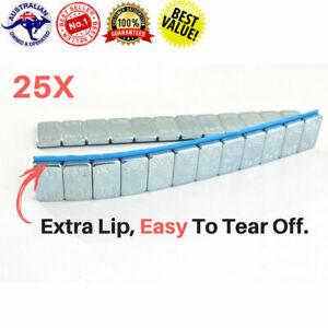 25x Tyre Wheel Balance Weights Adhesive Strips For Car Motorbike Rc Boat 60g