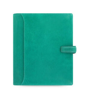 Filofax A5 Size Lockwood Organiser Planner Diary Book Aqua Green Leather 021690