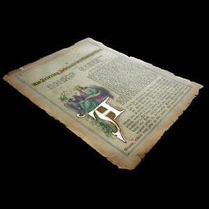 Us 4 Ancient Bible Illuminated Page Color With Letter In Silver Gospel Church