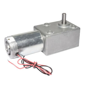 Dc 12v 24v Worm Gear Motor High Torque Low Speed Metal Gearbox For Diy Hobby