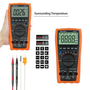 Lcd Multimeter Digital Tester Ac Dc Ohm Voltmeter Auto Ranging Ammeter Vc99 6999