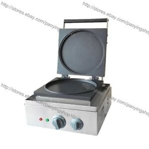 Commercial Nonstick Electric 22cm Pancake Baker Crepe Maker Machine Iron