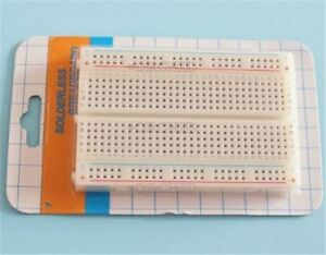 50pcs Breadboard 400 Contacts Available Test Develop Solderless Mini New Ic V