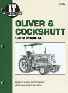 I t Shop Manual Oliver Tractor 1750 1800 1850 1900 1950 1955 More