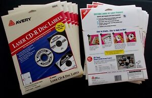 Vintage 1990s Avery 5824 Cd dvd bluray Disc Labels In Ob 10 New Packs 200 Sheets