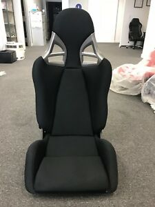 Porsche 997 Gt3 Style Carbon Fiber Racing Seat Black Cloth Frp Euro Gt2 Single