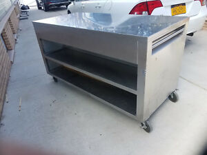 Restaurant Open Front Stainless Steel Cabinet Base Work Table With Fixed Shelf