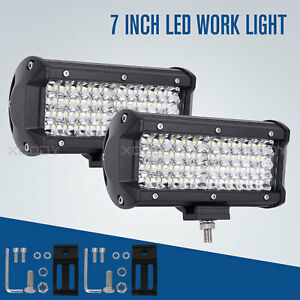 Car 144w Led Work Lights 12v 24v Off road Auto Suv Truck Ute Driving Lamps X2