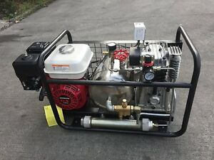 Davv Manual Stop Gas powered Oil free Hookah Dive System Driven Compressor 5 5ph