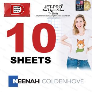 Heat Transfer Paper For Light Garments Jet pro Soft Stretch 10 Sheets8 5x11 1