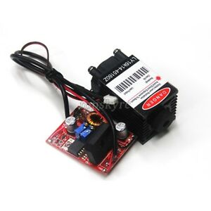 450nm 1 6w Blue Laser Diode Module Line Type Tunable Laser 12v 2a Drive Board