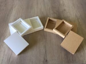 50 Pcs Brown Kraft Paper Drawer Box Jewelry Packing Wedding Box 11 15 5 3 Cm