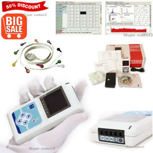 Usa 24h 12 Channel Ecg Dynamic Holter Ekg Monitor System software Tlc5000 Conte