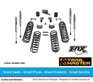 Trail Master Jeep Jk Wrangler 3 Inch Coil Spring Lift Kit With Fox Ifp Shocks