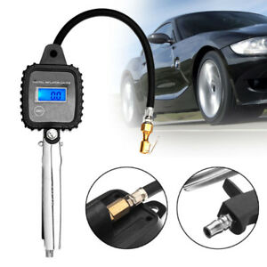 Digital Car Truck Bike Air Tire Pressure Inflator Gauge 5 100psi Dial Meter Tes