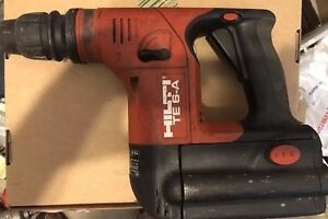 Hilti Te 6a Lithium Ion Cordless Rotary Hammer Drill 36 Volt No Charger