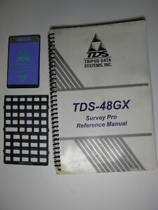 Tds Survey Pro Card Version 6 3 Overlay And Manual For The Hp 48gx