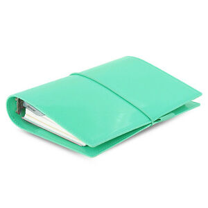 Filofax A5 Domino Patent Organiser Planner Notebook Diary Book Turquoise Gifts