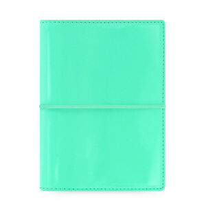 Filofax Pocket Size Domino Patent Organiser Planner Diary Book Turquoise Chic