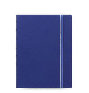 Filofax A5 Refillable Leather look Ruled Notebook Diary Book Blue 115009