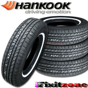 4x Hankook Optimo H724 235 75r15 108s White Wall All Season Performance Tire New