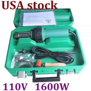 1600w 110v Easy Grip Weldy Hand Held Plastic Hot Air Welding Gun With Nozzle Usa