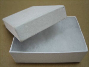 Jewelry Gift Boxes 100 White Swirl Lidded Earring Cotton Filled 2 1 2 X 1 1 2