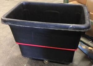 Used Utility Cart By Rubbermaid M 4712 Has 800 Lb Capacity And 12 Cu Ft