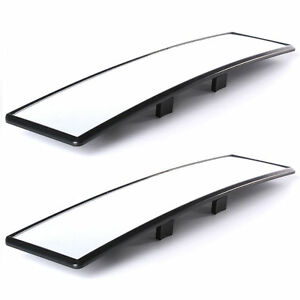 Car Rear View Panoramic Wide Angle Mirror Clip On Interior 31x7 4mm Golf Ma164