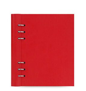 Filofax A5 Clipbook Leather look Refillable Notebook Diary Book Poppy Red 023615