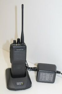Kenwood Tk 390 Uhf Portable Radio Complete W Fast Charger Antenna