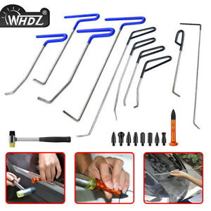 Whdz 10pcs Push Rods Tools Paintless Dent Repair Kit Auto Body Tools Hammer