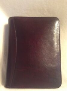 Franklin Covey Brown Leather Zip Around Classic Binder Planner 1 5 Rings