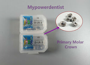 Dlr 3 Dental Kid Primary Molar Crown Preformed Pediatric Stainless Steel 20pcs