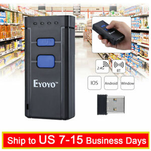 Eyoyo Portable 1d Bluetooth Wireless Barcode Scanner Support Windows Android Ios