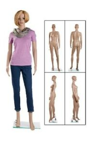 Full Body Female Mannequin Glass Base Retail Clothing Display Chest 33 5 9