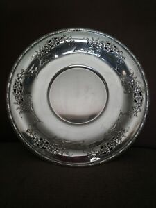 Wallace Sterling Silver Sandwich Plate Larkspur Pattern New Reduced Price