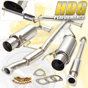 1998 2002 Honda Accord V6 Coupe Sedan 2 5 Catback Dual Exhaust System silencer
