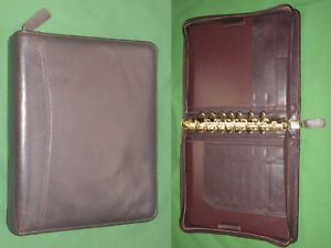 Classic 1 5 Brown Full Grain Leather Franklin Quest Covey Planner Binder 4206
