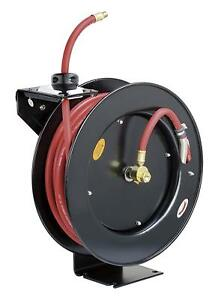 1 2 X 50 Ft Feet Retactable Rubber Air Hose Reel 300 Psi