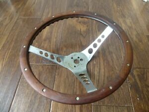 Vintage 13 5 Inch The 500 Wood Steering Wheel