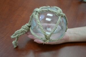 Reproduction Clear Glass Float Ball With Fishing Net 5 F 902