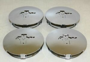1991 1993 For Mustang Pony Rim 6 75 Chrome Center Caps Set Of 4