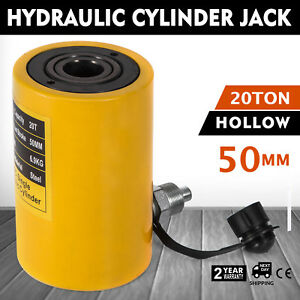20t 2 Single Acting Hollow Cylinder Jack Hydraulic Jack Metal Safe Updated