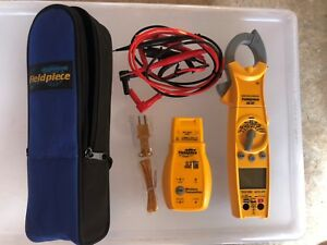 Fieldpiece Sc57 Hvacr Wireless Swivel Head Clamp Meter et2w Transmitter