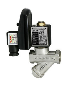 Compressor Auto Drain feed Valve With Timer Any Voltage Please State 1 2 Bsp
